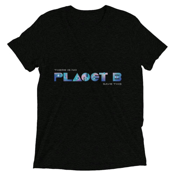 There is no Planet B Soft Triblend Crew Neck T-shirt - Charcoal-Black Triblend