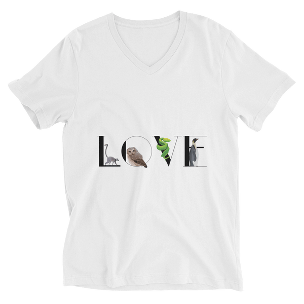 Wild LOVE V-Neck T-shirt - White