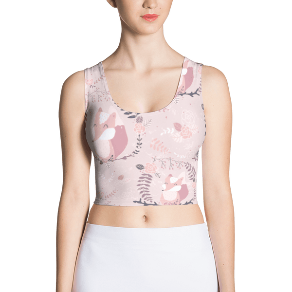 Foxes and Roses Crop Top