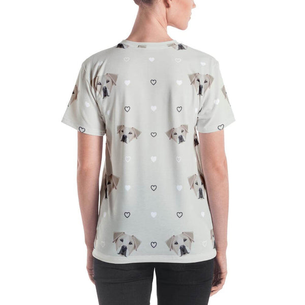 Labrador in Geometric Art Crew Neck T-shirt - Back