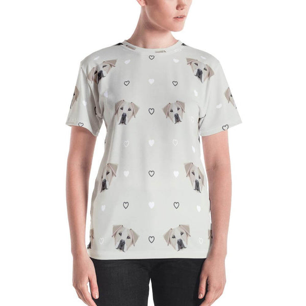 Labrador in Geometric Art Crew Neck T-shirt