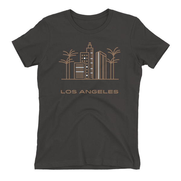 Los Angeles in Sandal Crew Neck Boyfriend T-shirt - Heavy Metal