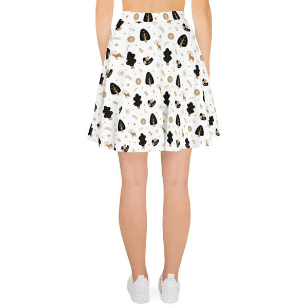 Reindeer and Bird Skater Skirt for Christmas