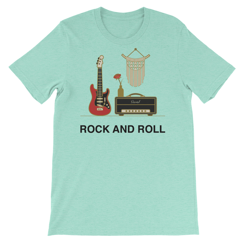 Women's Rock and Roll Jersey T-shirt for Music Lovers