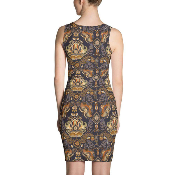 Vintage Paisley Dress - Back