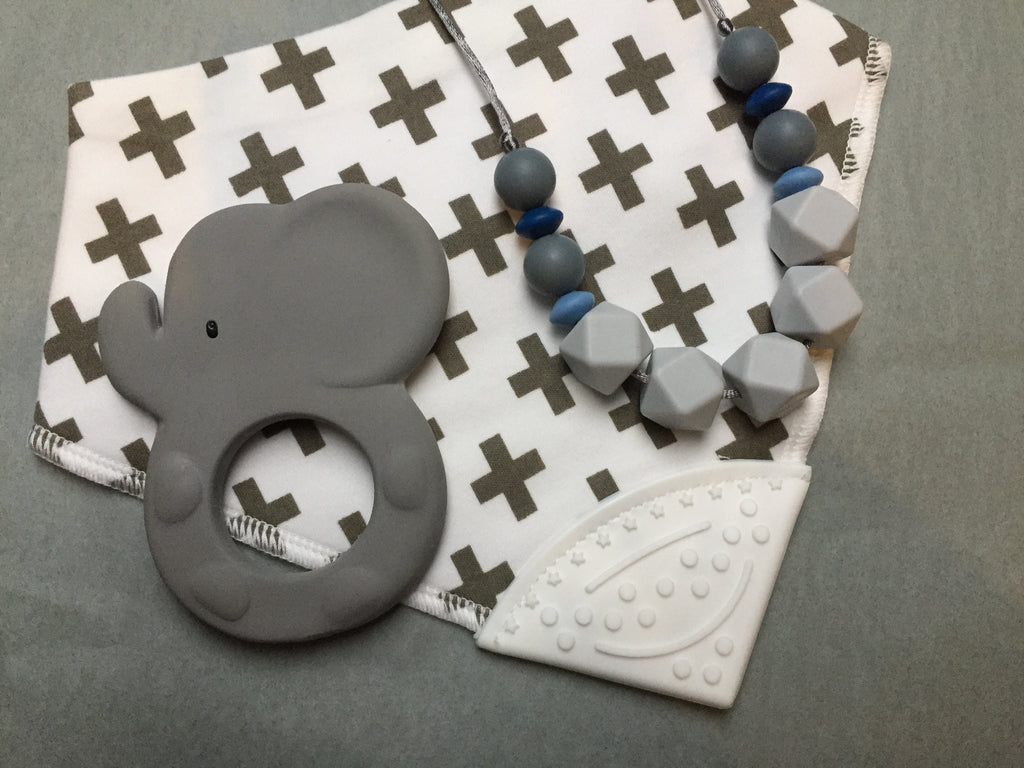 Necklace, Teether & Bibbychomp Gift