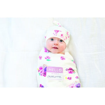 Swaddle with Hat - Posies