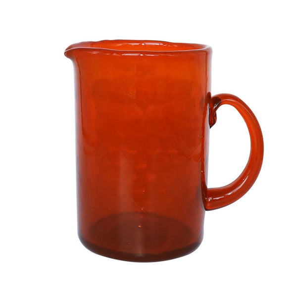 Water Jug Recycled Glass Orange