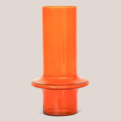 Orange Recycled Glass Vase