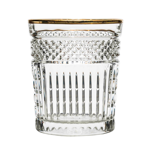 Tumblir Glas Radiant Golden Rim