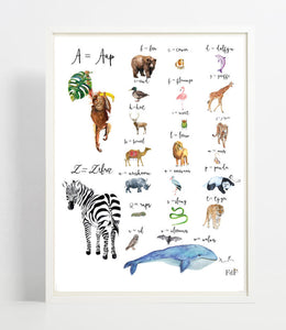 Poster Animals Alphabet (NL)
