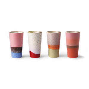 Ceramic Latte Mugs Set Of 4