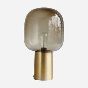 Table Lamp, Grey/Brass