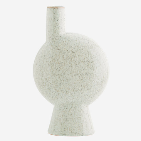 Stoneware Vase Off White