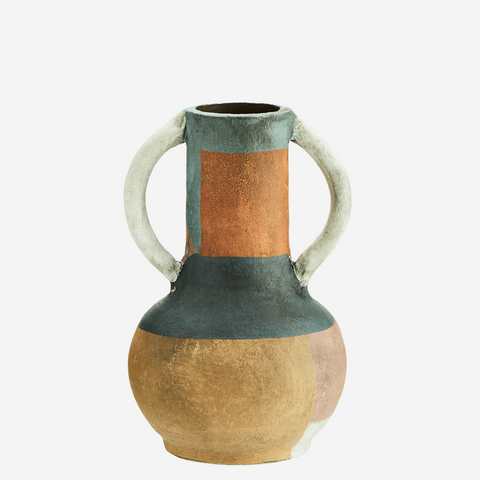Terracotta Vase Naturel/Dusty blue