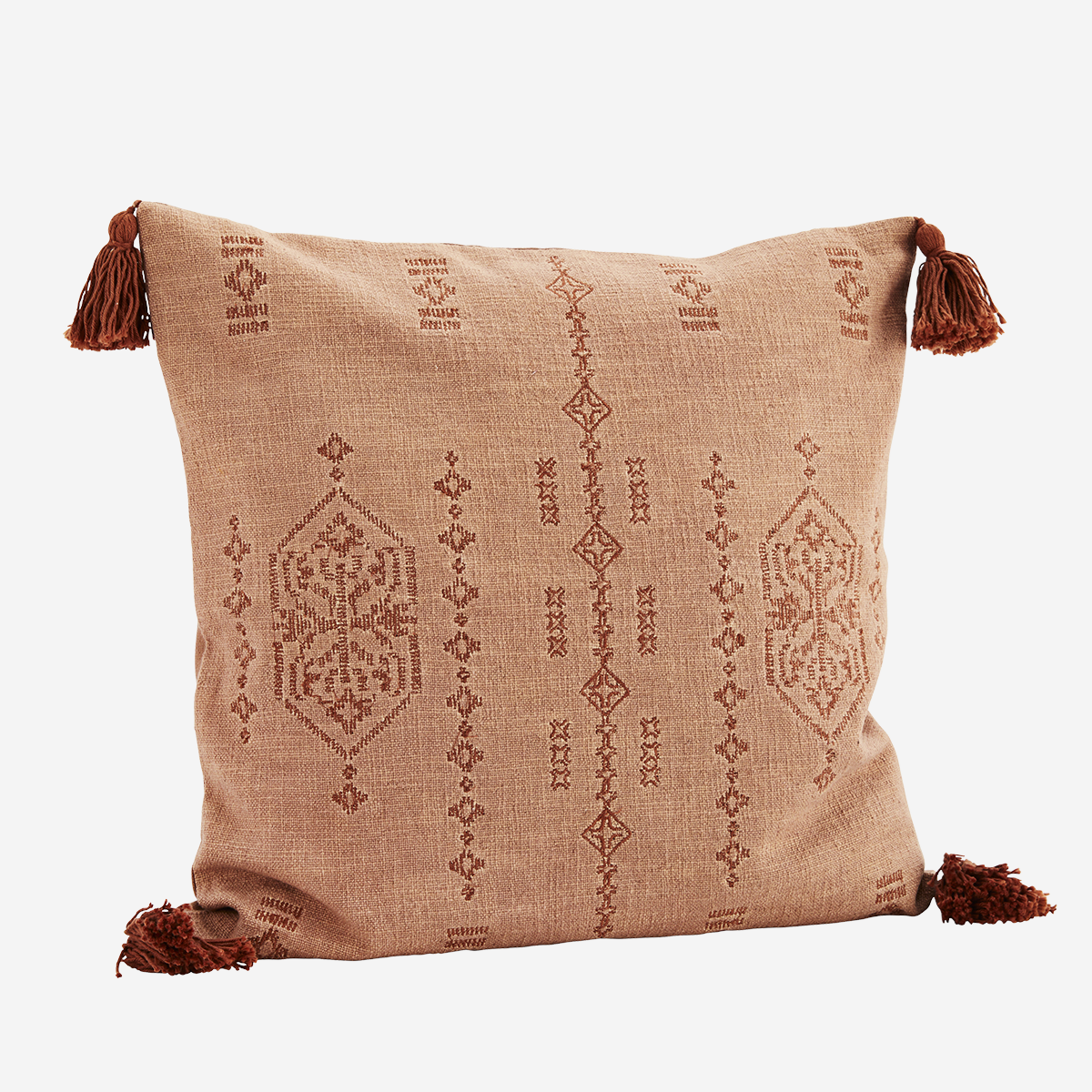 Embroidered Cushion W/ Tassels