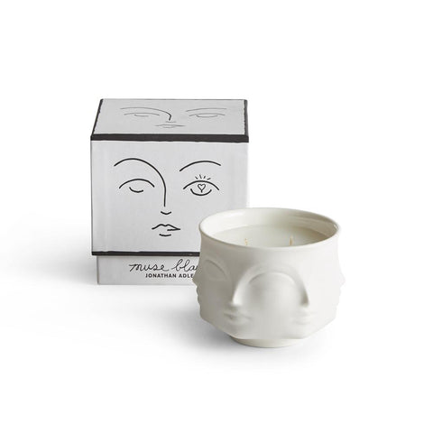 Muse Blanc Ceramic Candle By JONATHAN ADLER
