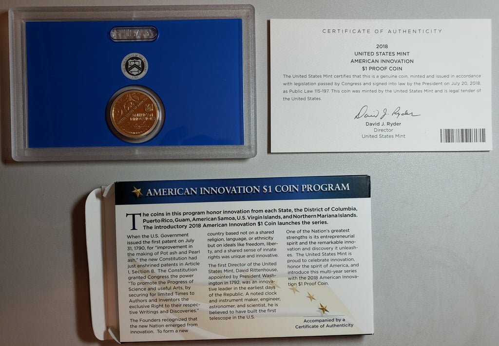 New Site and New American Innovation Coins