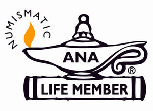 Lilly's Coins is a lifetime member of the American Numismatic Association also known as the ANA.