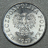 1949 Poland 1 Grosz BU-Lot 1