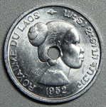 1952 Laos 10 Cents BU- Lot 1