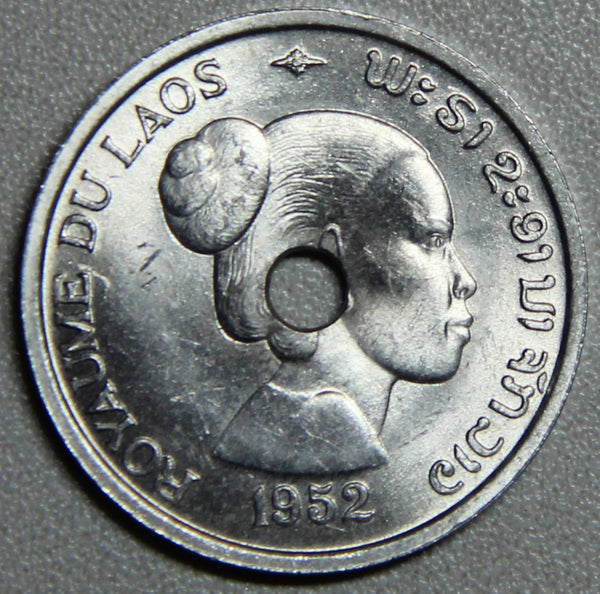 1952 Laos 10 Cents BU- Lot 3