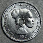 1952 Laos 10 Cents BU- Lot 4