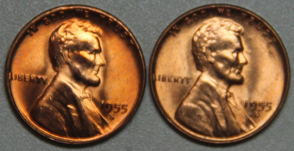 1955 DS Lincoln Wheat Cent BU Set-Lot 2