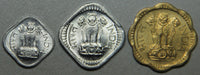 1968,1972 India 1-5-10 Paisa 3 Coin BU Set-Lot 4