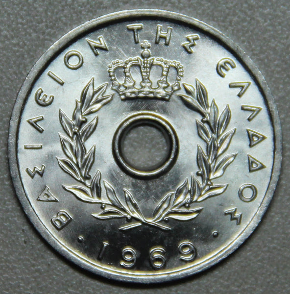 1969 Greece 10 Lepta BU- Lot 1