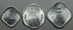 1971, 1972, 1976, India 1-3-5 Paisa BU Coin Set- Lot 1