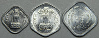 1971, 1972, 1976, India 1-3-5 Paisa BU Coin Set- Lot 3