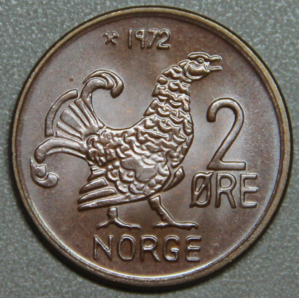 1972 Norway 2 Ore Hen BU Lot 2
