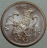 1972 Norway 2 Ore Hen BU Lot 3