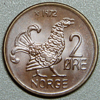1972 Norway 2 Ore Hen BU Lot 4