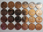 1999-2000-Canada Twenty-Five Cents BU Set