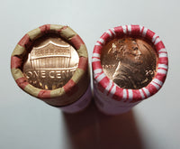 2015 P D Lincoln Shield Cent BU Bank Rolls