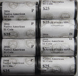 2016 P D Native American Dollar Roll Set From US Mint Wrapped Rolls!