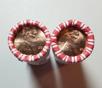 2016 P D Lincoln Shield Cent BU Bank Rolls