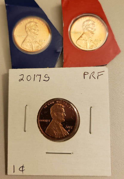 2017 PDS Lincoln Shield Cent Set From US Mint Sets