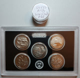 2017 S S S America The Beautiful Silver & Clad Proofs Enhanced Uncirculated Quarter Set