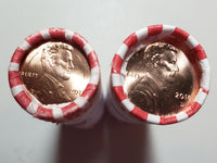 2018 P D Lincoln Shield Cent BU Bank Rolls