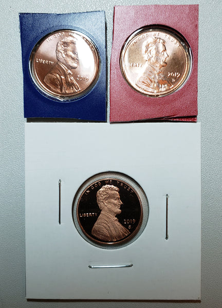 2019 PDS Lincoln Shield Cent Set