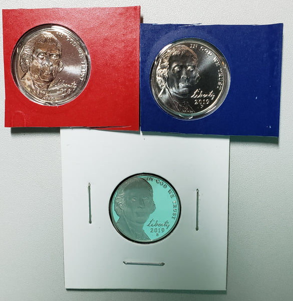 2019 PDS Jefferson Nickel Set