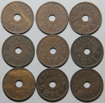 1927-1940 Denmark 9 coin set Lot 2
