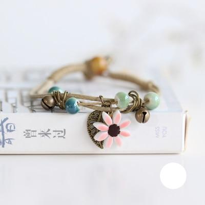 Nature's Ceramic Flower Bracelet