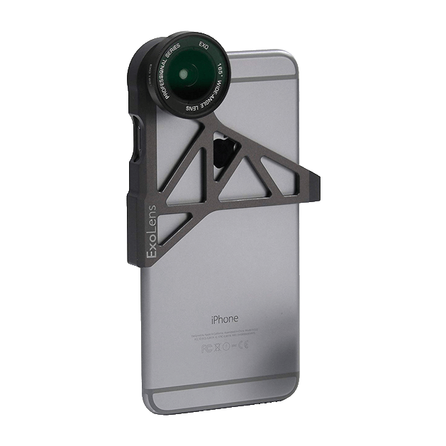 ExoLens Wide Angle and Telephoto Lens for iPhone 6, Aluminum