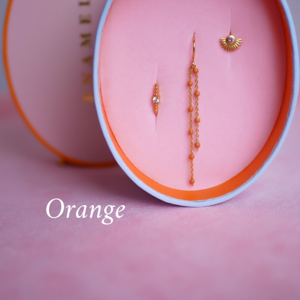 Enamel Box Orange