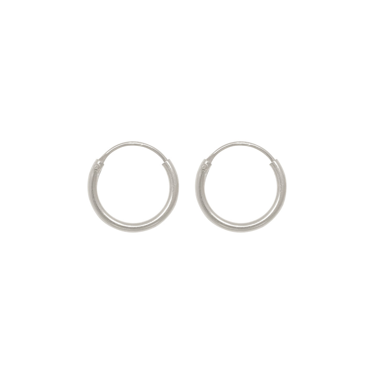 Image of   Tiny hoops 10 mm sølv
