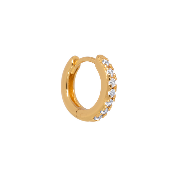 Single Classic Zirconia Huggie Hoop 15mm